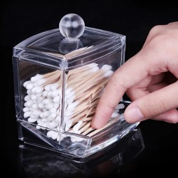 Transparent container for...