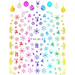 Новогодние стикеры 8*10 см...