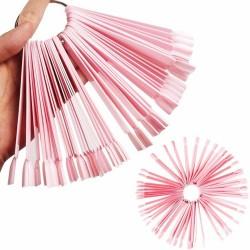 Розовый веер для образцов...