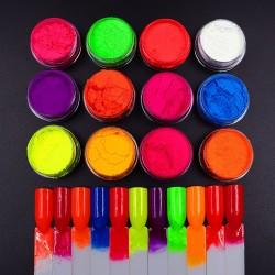 Набор разноцветных неоновых...